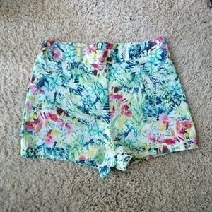bf7fa2fce6 Pants - Forever 21 shorts tropical floral neon flowers